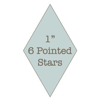 "1"" 6 Pointed Star Papers"