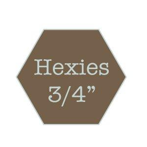 "Hexagons 3/4"" - water soluble"