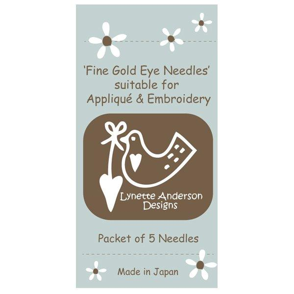 Fine Gold Eye Needles