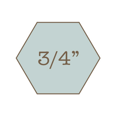 "3/4"" Hexagon Papers with Template"