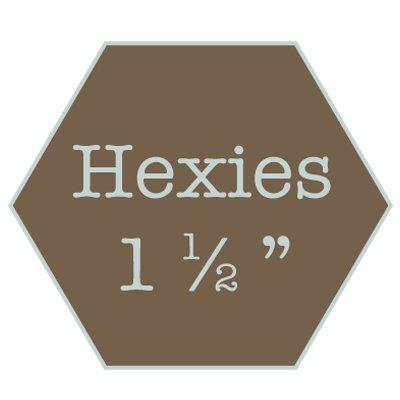 "Hexagons 1 1/2"" - water soluble"
