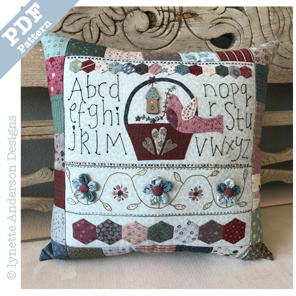Bird in a Basket Pillow - Downloadable pattern