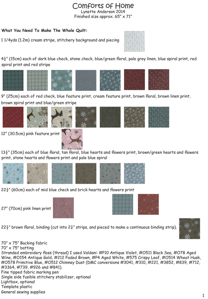 Comforts of Home - Pattern Set
