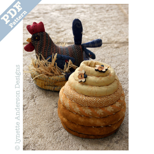 Country Pincushions - downloadable pattern