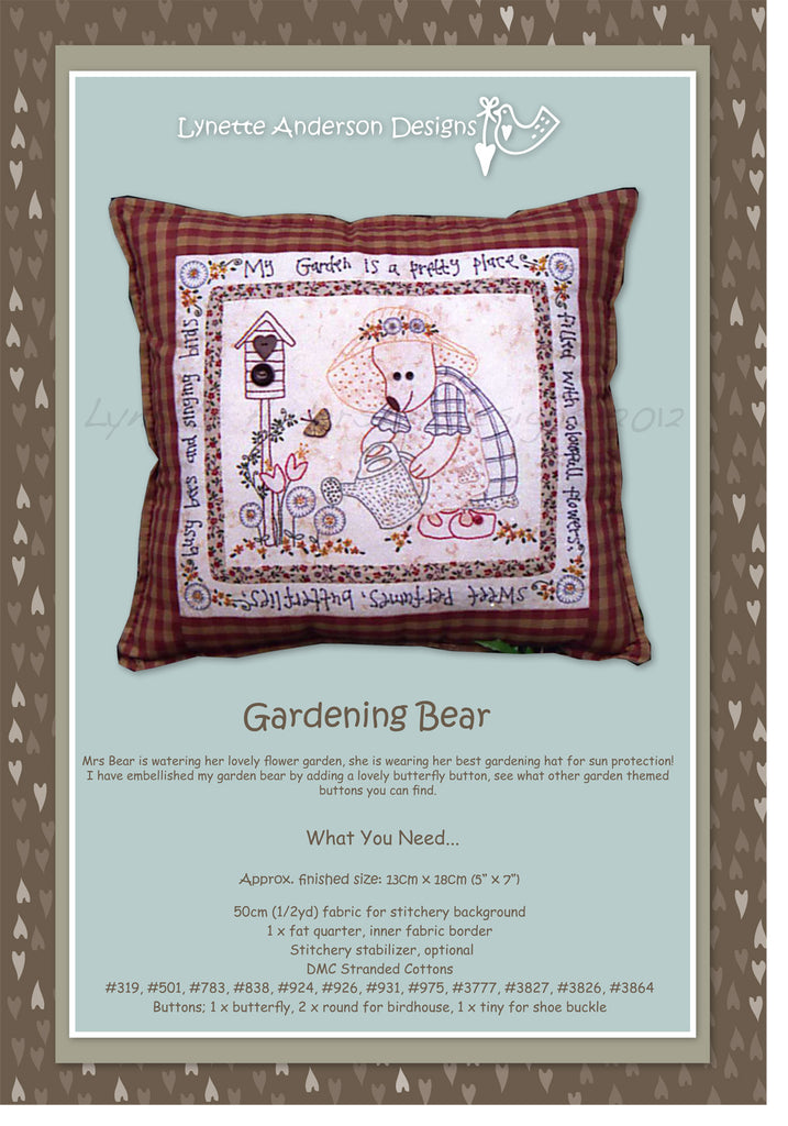 Gardening Bear - Downloadable pattern