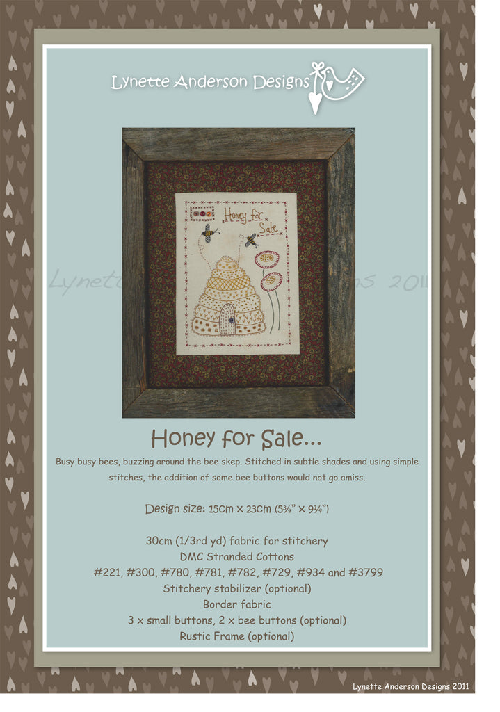 Honey For Sale - Downloadable Pattern