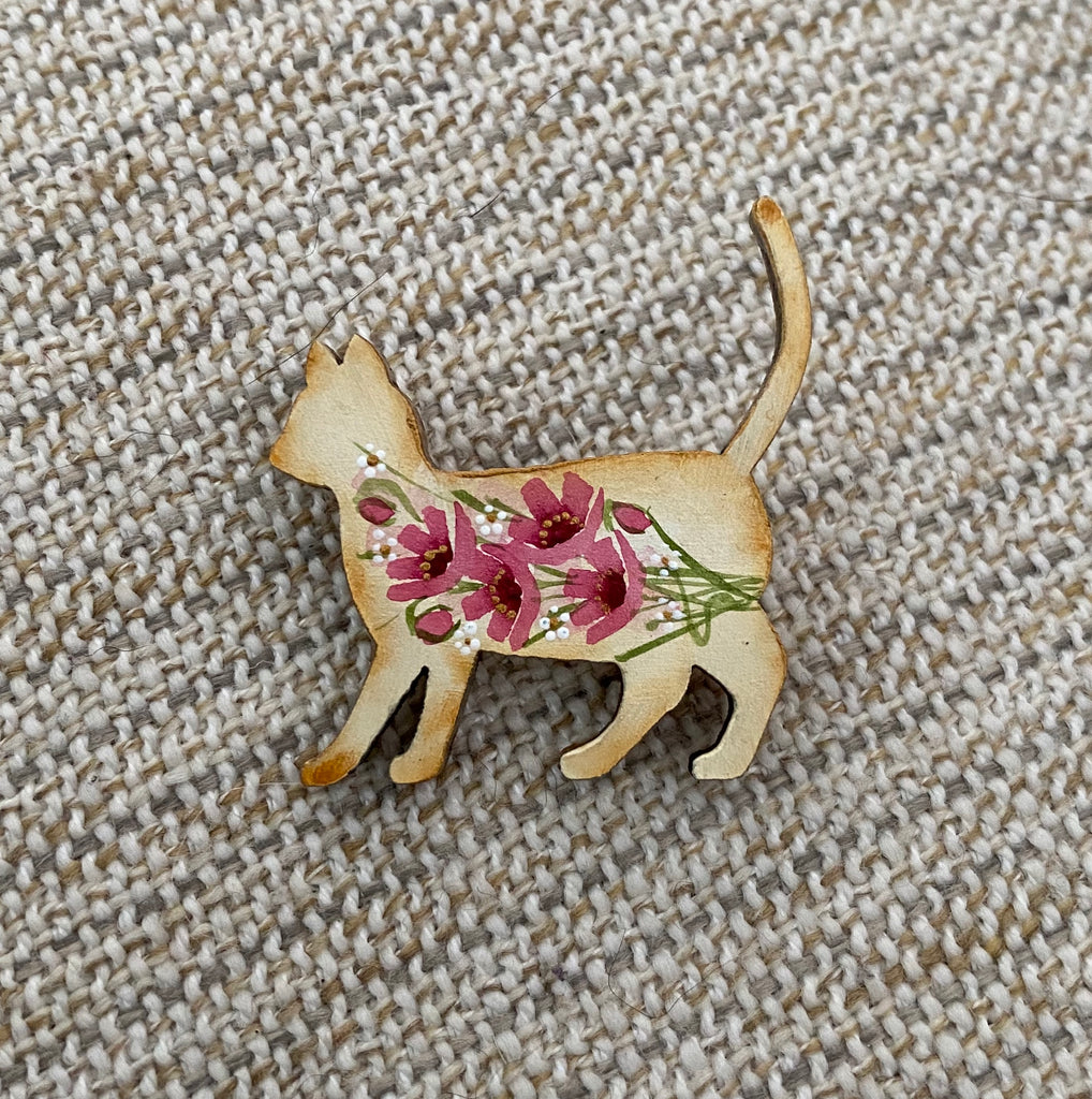 Brooch - Hand Painted #15