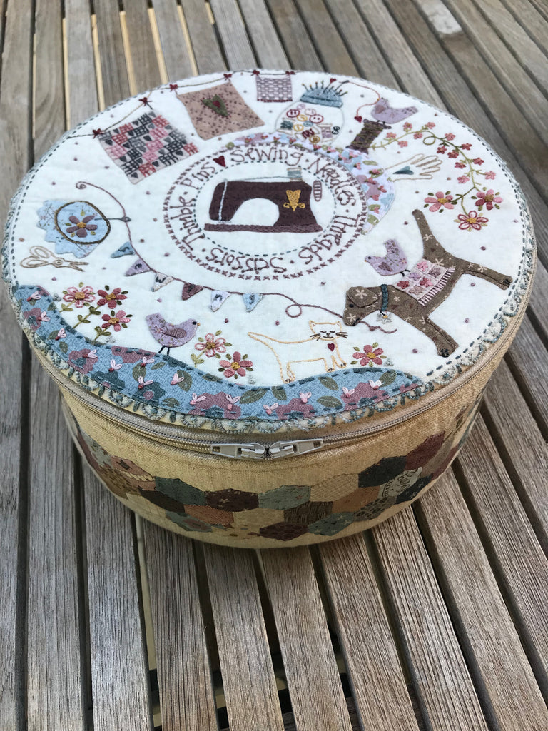 Stitching Circle Basket - pattern