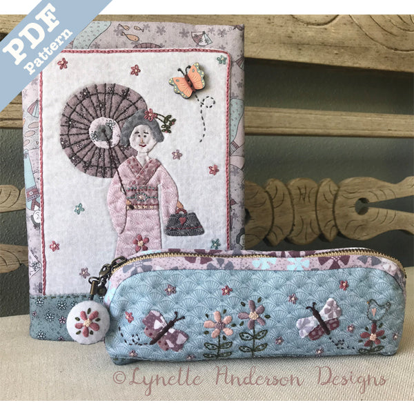 Kimono Lady Journal and Pencil Case - Downloadable pattern