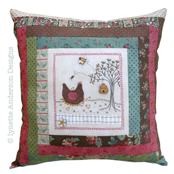 Nora's Hens Pillow - pattern