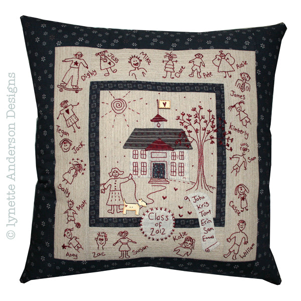 School House Pillow - pattern