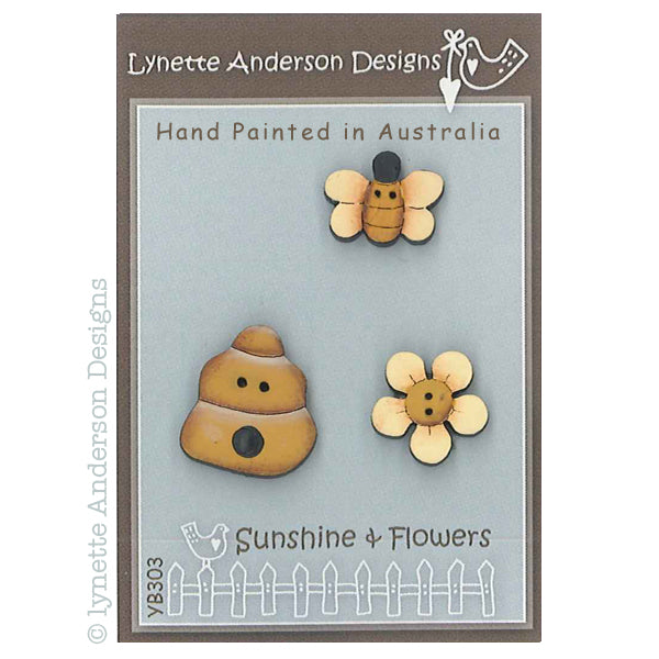 Sunshine and Flowers Button Pack