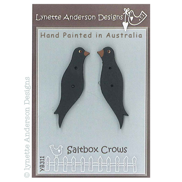 Saltbox Crows Button Pack