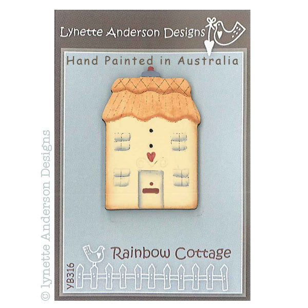 Rainbow Cottage Button