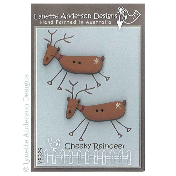 Cheeky Reindeer Buttons
