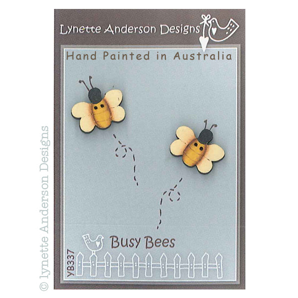 Busy Bees Button Pack