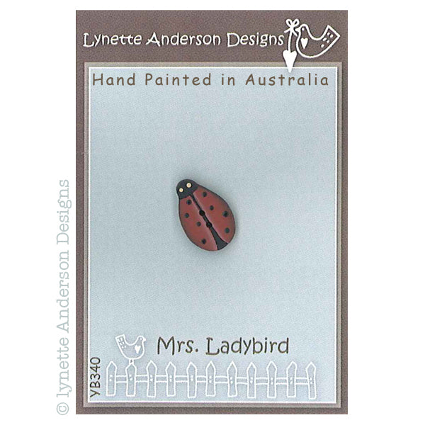 Mrs Ladybird Button