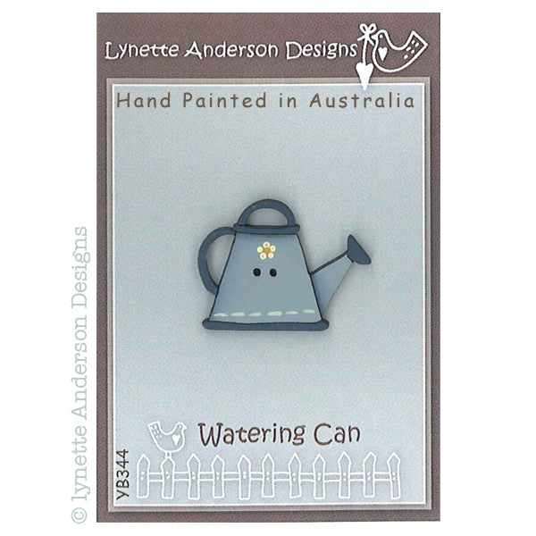 Blue Watering Can Button