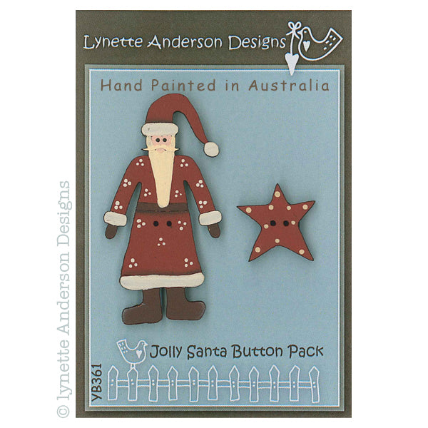Jolly Santa Button Pack
