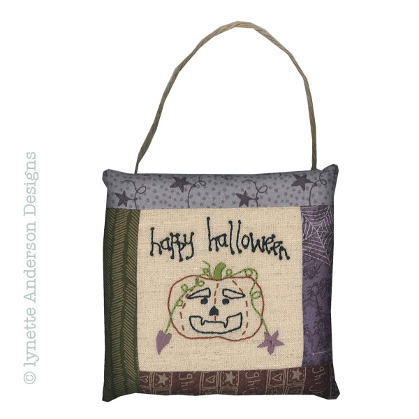 Happy Halloween Pillow - pattern