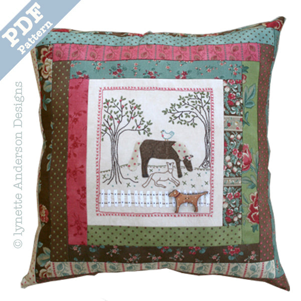 Nora's Horses Pillow - downloadable pattern