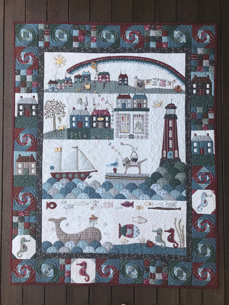 Seaside Town 12 Pattern Set with Painted Buttons