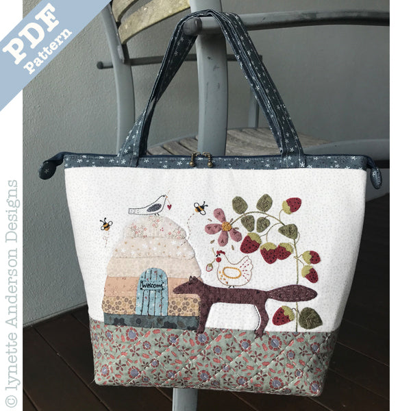 Strawberry Fox Bag - downloadable pattern