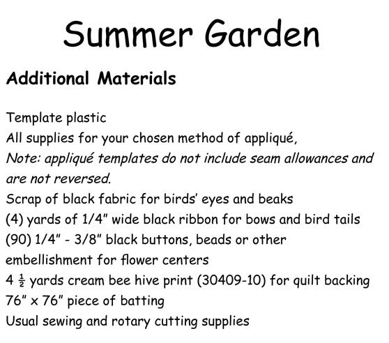 Summer Garden - Downloadable pattern