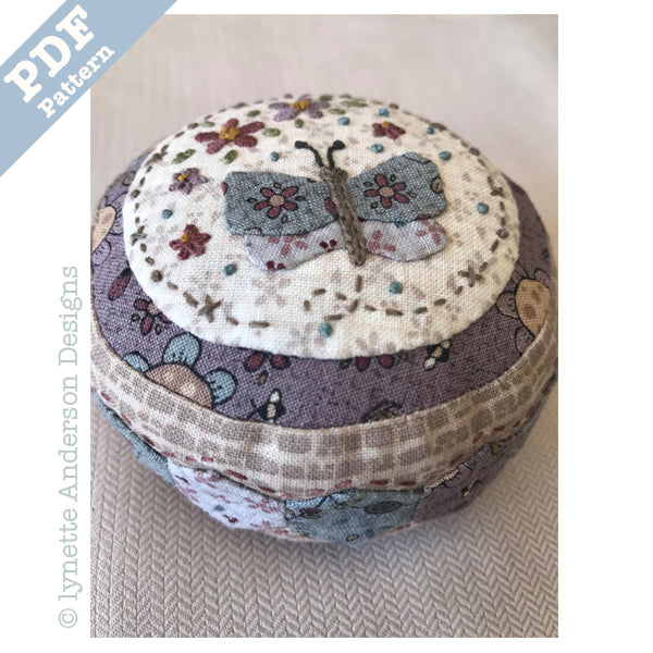 Summer Garden Pincushion - downloadable pattern