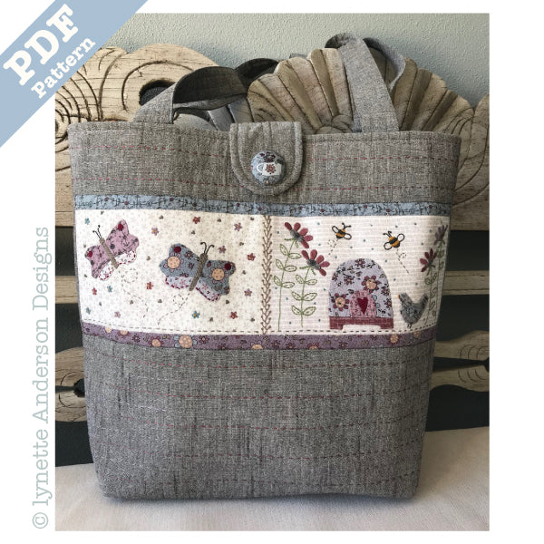 Summer Garden Tote - downloadable pattern