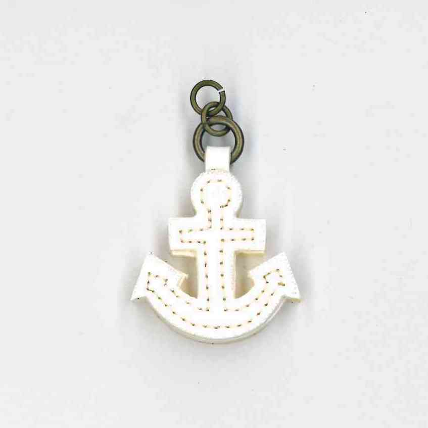 Zip Pull White Anchor