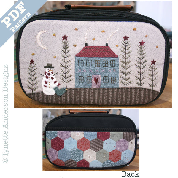 Winter Moon Craft Case - downloadable pattern