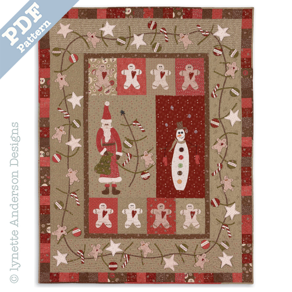 Santa's Blessings Quilt - downloadable pattern