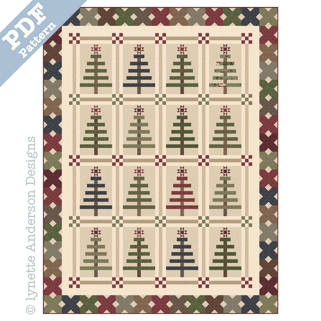Oh..Christmas Tree Quilt - downloadable pattern