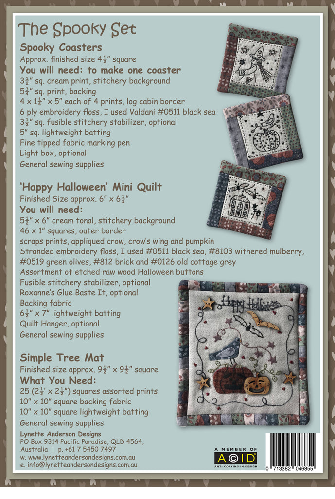 The Spooky Set - downloadable pattern
