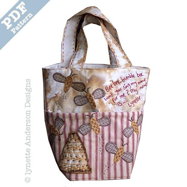 A Bee s Life Bag - download pattern – Little Quilt Store e000be9b9eaa3