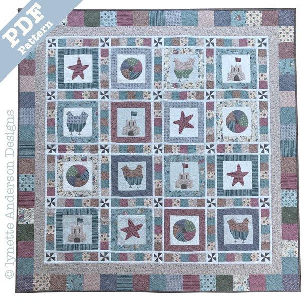 Beachtime Fun Quilt - downloadable pattern