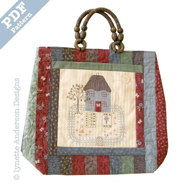 Butterfly Cottage Bag - downloadable pattern