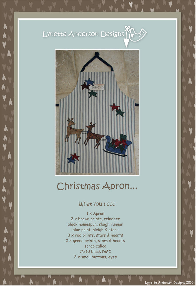 Christmas Apron - Downloadable Pattern