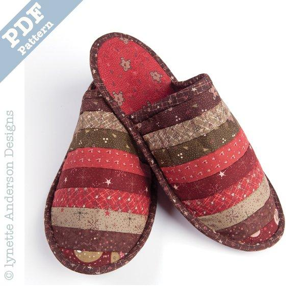 Christmas Slippers - Downloadable pattern