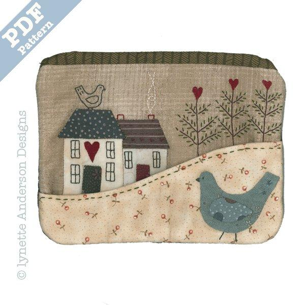 Country Cottage Purse - download pattern