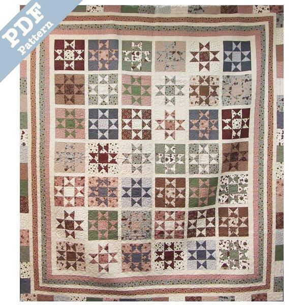 Country Stars Quilt - Downloadable pattern