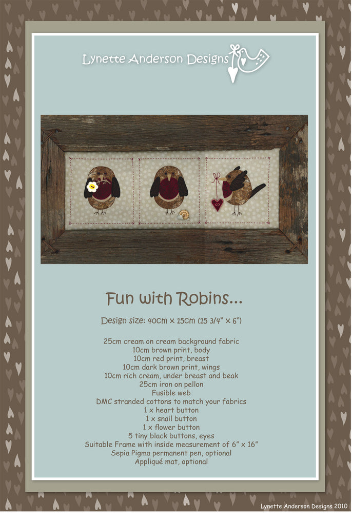 Fun With Robins- Downloadable Pattern