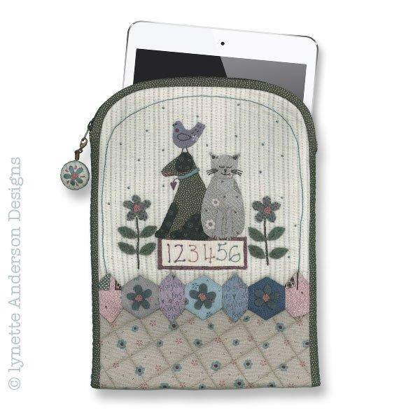 Garden Friends Tablet Cover - pattern
