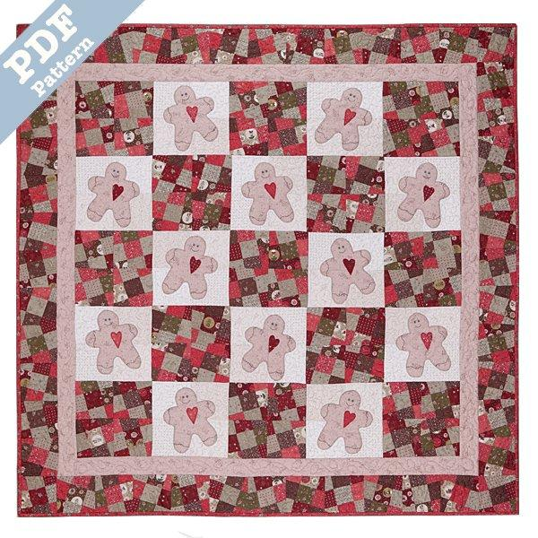 Gingerbread Man Quilt- Downloadable
