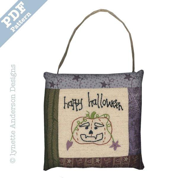 Happy Halloween Pillow - downloadable pattern