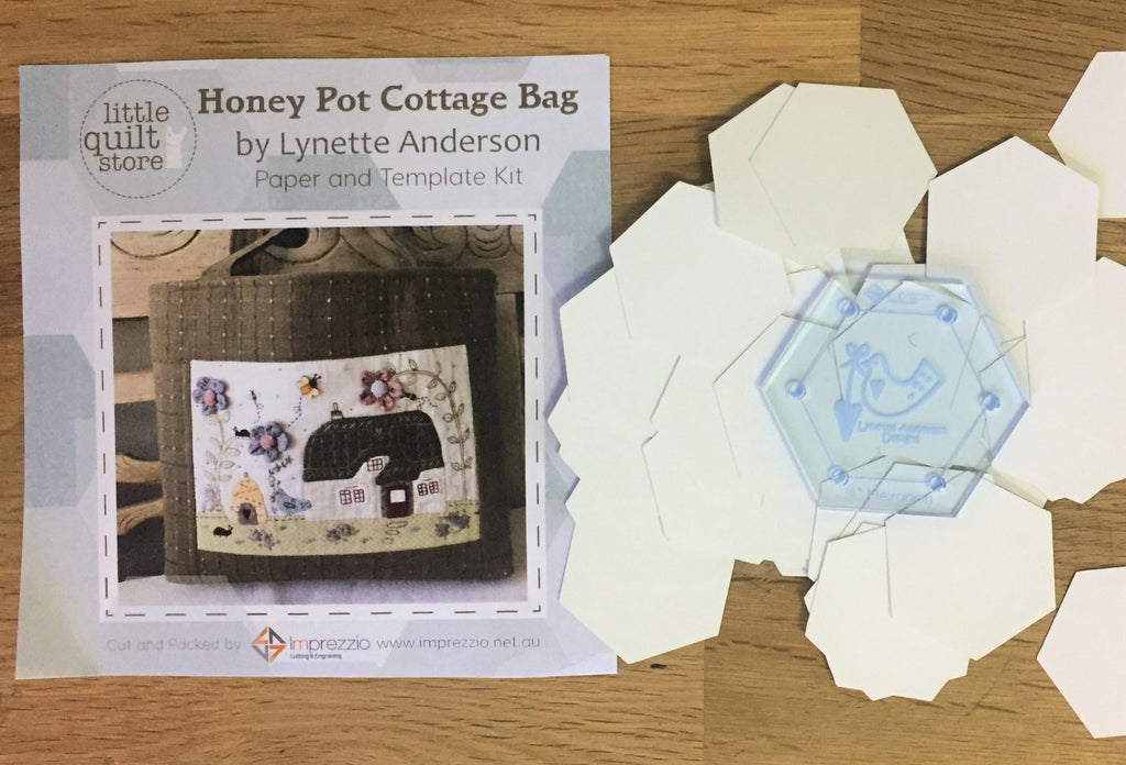 "3/4"" Paper Pieces (50) and Template Pack - Honeypot Cottage"