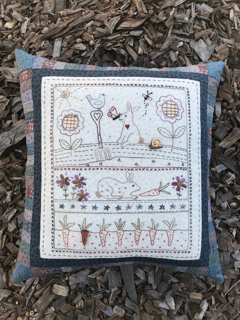 Bunny Garden Pillow Kit