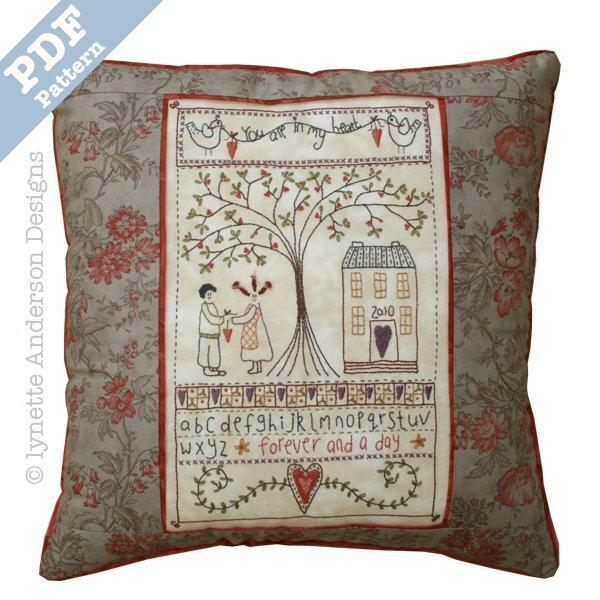 In My Heart Pillow - Downloadable pattern