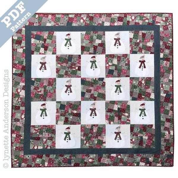 Let's Build a Snowman Quilt - Downloadable pattern